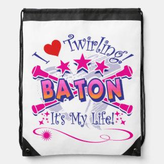Baton Twirlers Drawstring Bag