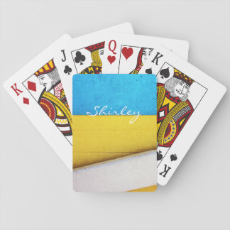 Battered Building-Minimal Abstract by STaylor Playing Cards