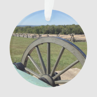 Battle of Gettysburg Cannon Round Acrylic Ornament