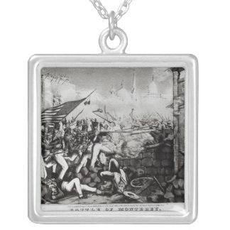 Battle of Monterey Silver Plated Necklace