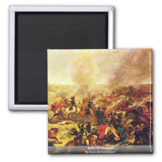 Battle Of Nazareth By Gros Antoine-Jean Square Magnet