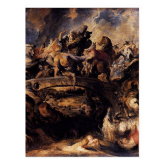 Battle of the Amazons by Peter Paul Rubens Postcard