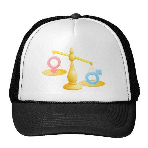 Battle of the sexes concept mesh hats