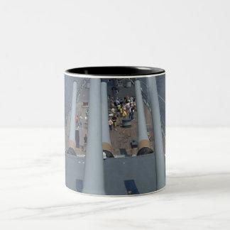Battleship New Jersey Two-Tone Coffee Mug
