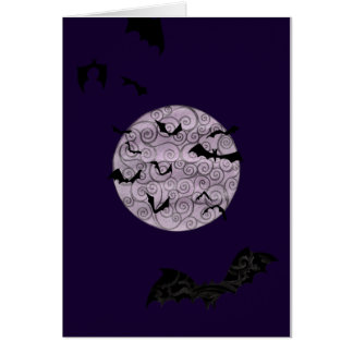 Batty Moon - birthday card