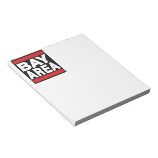 Bay Area Red Notepad