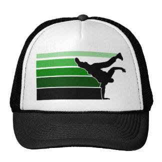 BBOY gradient grn blk hat