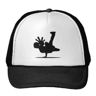 BBOY pose black hat