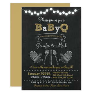 BBQ Baby Shower Card