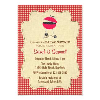 BBQ Baby Shower Invitation Rustic