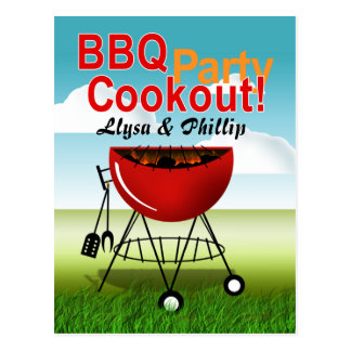 BBQ Cookout - Engagement Party Postcard