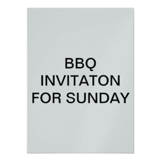 BBQ INVITAION FOR SUNDAY CARD