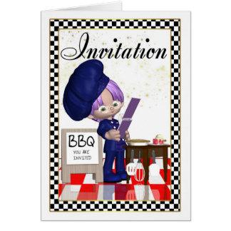 BBQ Invitation - Chef - You Are Invited
