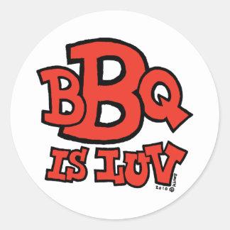 BBQ is Luv sticker