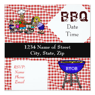 BBQ or Barbeque Fun Party Invitation Customize It!