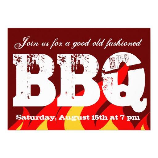 BBQ party invitations | Custom invite template