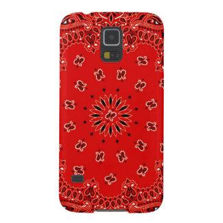 BBQ Red Paisley Western Bandana Scarf Print Galaxy S5 Case