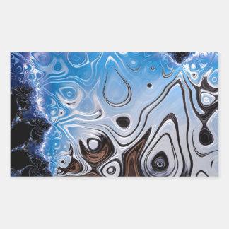 BBQSHOES: Fractal Art Design 103985 Rectangular Sticker