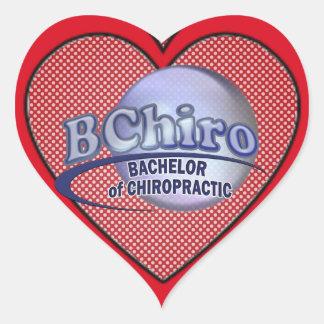 BChiro BACHELOR CHIROPRACTIC BLUE LOGO Sticker