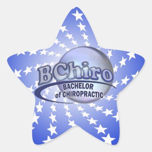 BChiro BACHELOR  CHIROPRACTIC BLUE LOGO Stickers