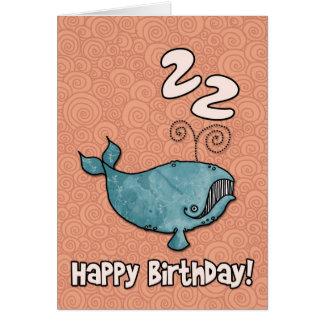 bd whale - 22 card