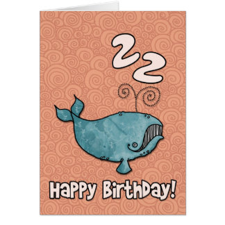 bd whale - 22 greeting card