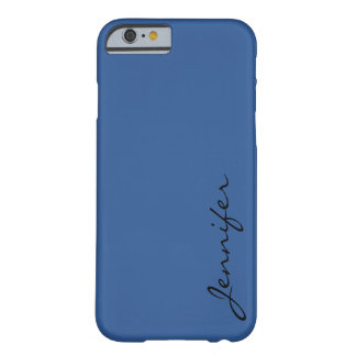 B'dazzled blue color background barely there iPhone 6 case