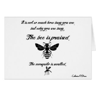 Be a busy bee! card