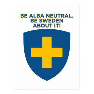 Be Alba Neutral-Be Sweden About It Postcard