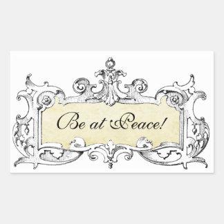 Be at Peace Custom Sticker