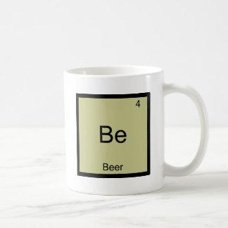 Be - Beer Funny Chemistry Element Symbol T-Shirt Basic White Mug