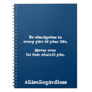 Be Courageous Journal Spiral Note Books