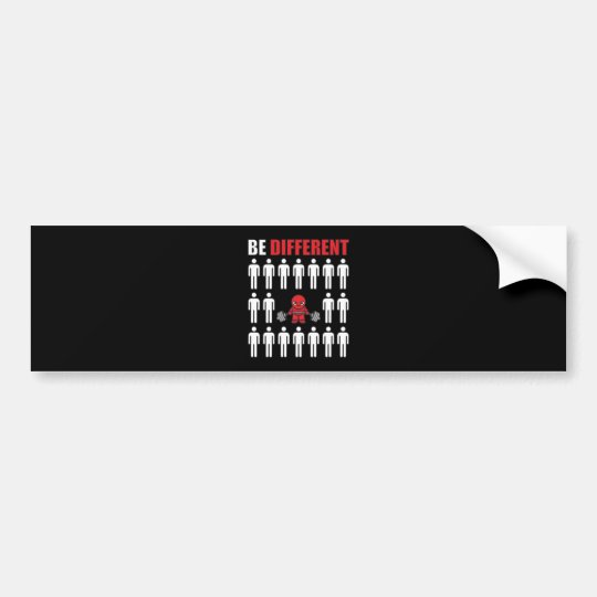 Be Different - Kawaii Anime Bodybuilding Workout Bumper Sticker