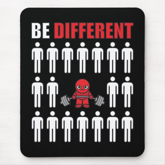 Be Different - Kawaii Anime Bodybuilding Workout Mouse Pad