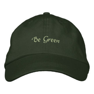 Be Green Embroidered Hat