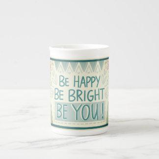 BE HAPPY Bone China Mug