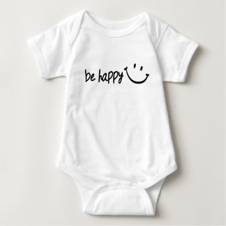 be happy with smiley baby bodysuit