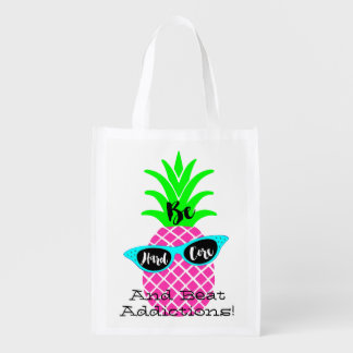 Be Hard Core and Beat Addictions! Reusable Grocery Bag