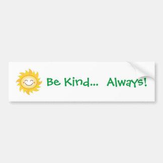 Be Kind Bumper Sticker - Sun Smiley