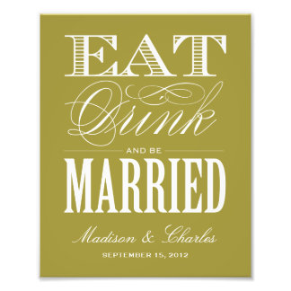 BE MARRIED RECEPTION PRINT PHOTOGRAPH