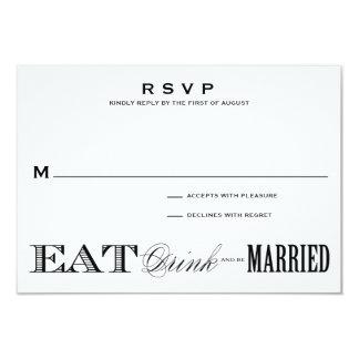 & BE MARRIED | RSVP 3.5 x 5 9 Cm X 13 Cm Invitation Card