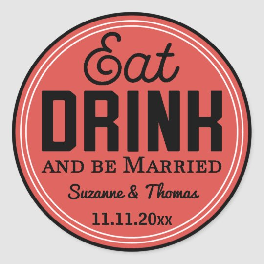Be Married Wedding Vintage Typography Sticker