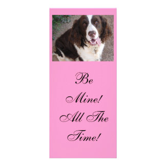 Be Mine!  All The Time! Rack Card Template