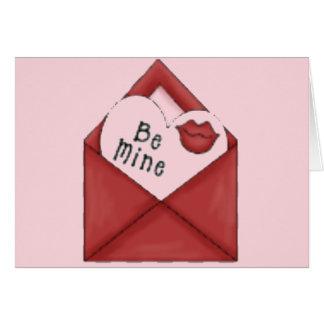 Be Mine Envelope Greeting Card