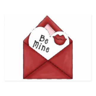 Be Mine Envelope Postcards