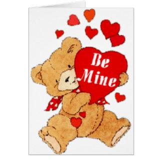 Be Mine Valentine Teddy Greeting Cards