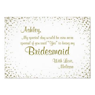 Be My Bridesmaid | Gold Confetti
