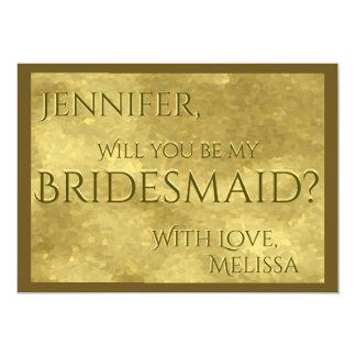 Be My Bridesmaid | Gold Glam Card