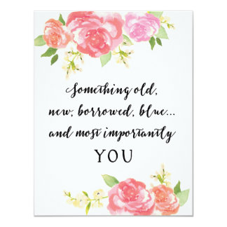Be My Bridesmaid White Watercolor YOU Card