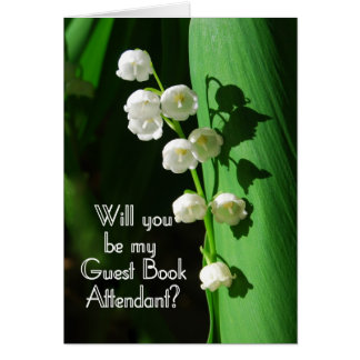 Be My Guest Book Attendant Lily of the Valley Greeting Card